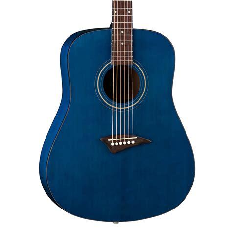 blue dean dean tradition ak48 acoustic guitar trans blue w at