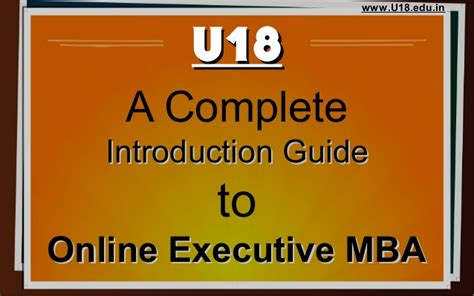 Executive Mba Correspondence by Executive Mba Complete Guide U18 Distance Education
