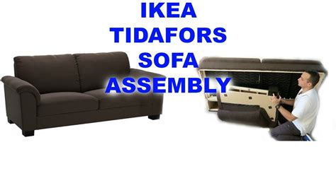 couch assembly ikea tidafors three seat sofa assembly youtube