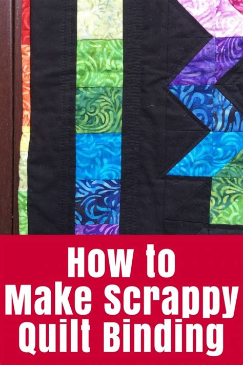 how to make scrappy quilt binding the crafty mummy