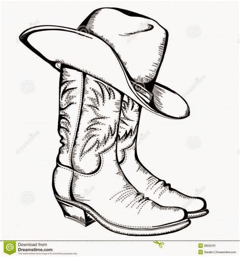 vivere hers festa set parsel cowboy boots and cowboy hat drawing hd shoe clip