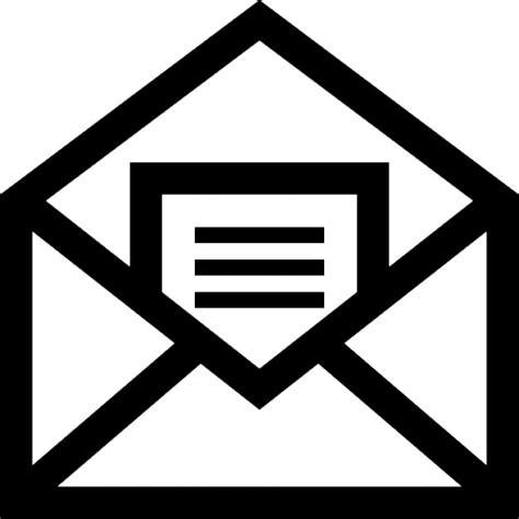 e mail interno email simbolo aperto di una busta con una lettera all