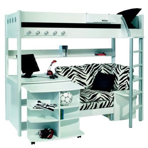 Bunk Beds With Desk And Couch Stompa Combi 1 Bunk Bed With Sofa Bed Desk And