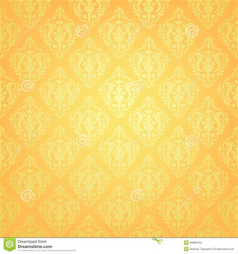yellow patterned wallpaper yellow wallpaper pattern stock vector image of