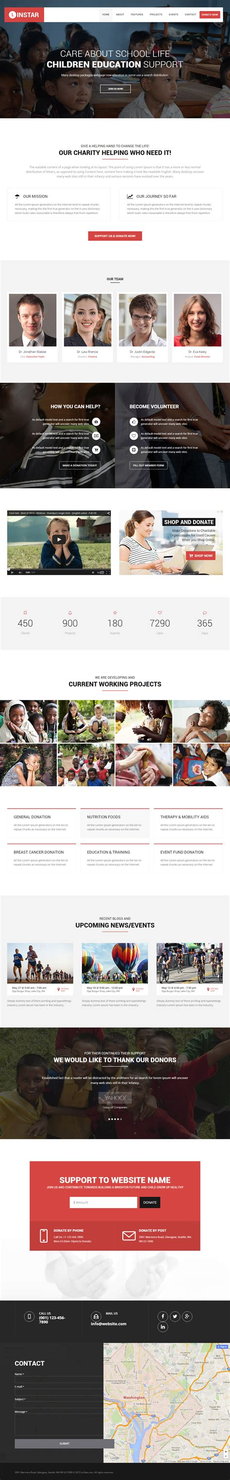 15 Best Html5 Charity Website Templates 2017 Responsive Miracle Best Charity Website Templates