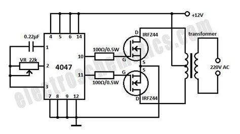 12vdc to 12vac converter circuit diagram voltage converters projects and circuits
