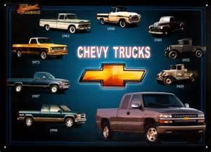 chevy trucks tin sign poster and print
