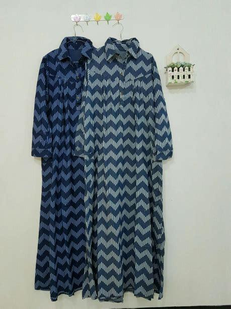 Baju Koko Lengan Panjang Zig Zag 2 gamis zigzag blue g394 baju style ootd