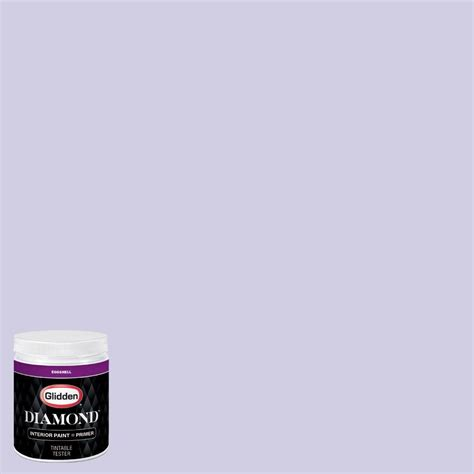 glidden 8 oz hdgv44 iced purple eggshell interior paint with primer tester hdgv44d