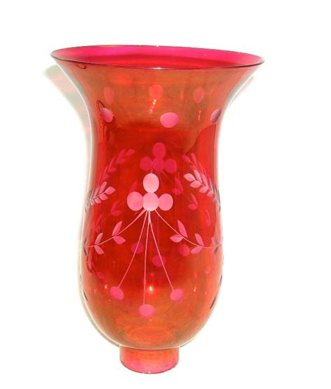 Cranberry L Shade by Cranberry Ruby Etched Glass Shade Globe Table L