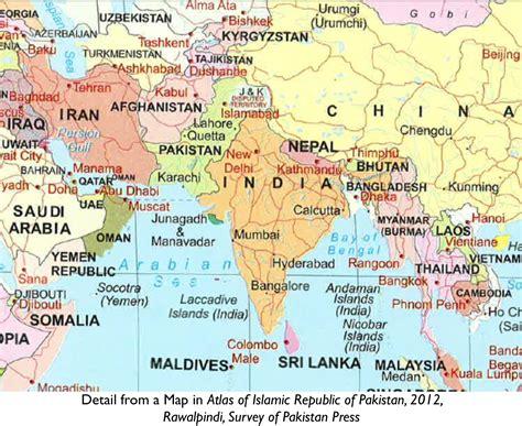india pakistan india pakistan map
