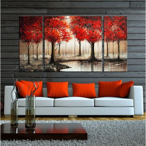 wall painting trees2018 15 best collection of canvas wall 3 sets
