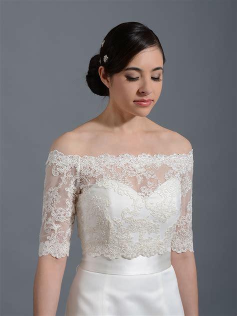 Wedding Jackets by Shoulder Wedding Jacket Lace Bolero Wj003