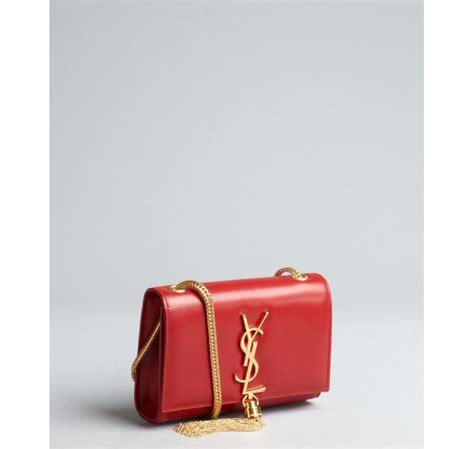 Ysl Leather 5 Gelang Merah laurent leather ysl shoulder bag in lyst