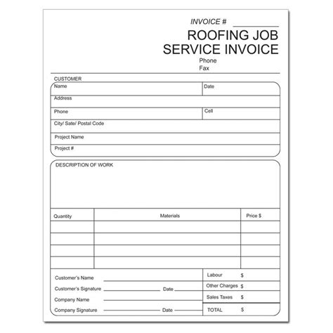 roofing invoice template roofing invoice studio design gallery best design