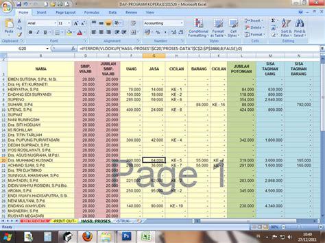 Aplikasi Akuntansi Untuk Bumdes program sederhana simpan pinjam koperasi di excel excel