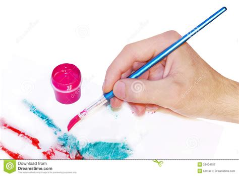 painting with brush with brush painting royalty free stock photography