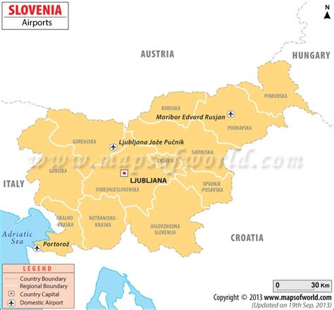 intern europe airports in slovenia slovenia airports map