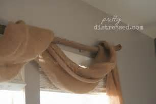 Diy Burlap Window Treatments - pretty distressed pin spired diy country chic window