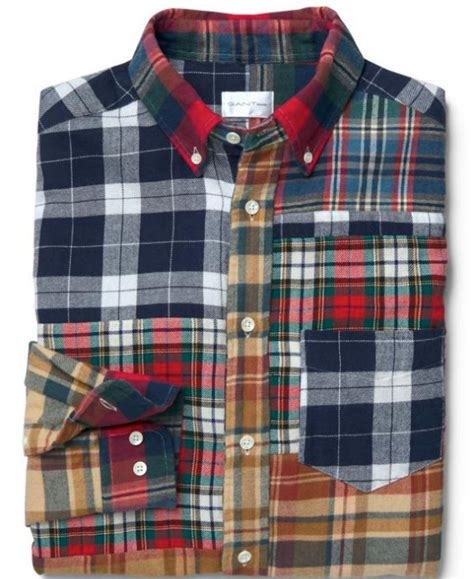 Patchwork Co Uk - gant upcycled patchwork shirt www gant co uk