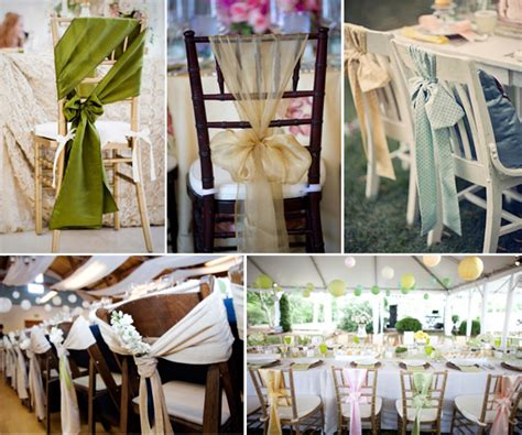ways decorate your wedding chairs girls mag