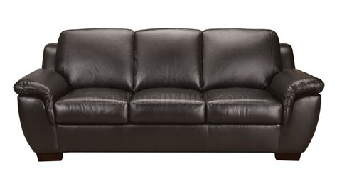 Italian Leather Sofa Sets Black Italian Leather Classic 4pc Sofa Set W Wooden Legs