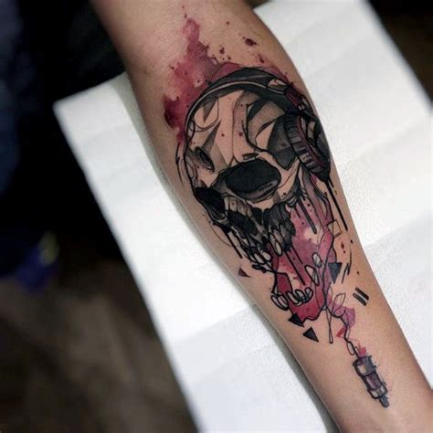 watercolor tattoo skull 100 watercolor designs for cool ink ideas