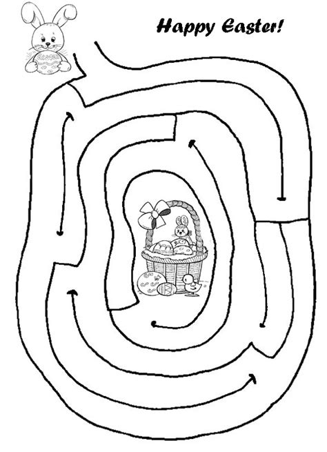 printable mazes print your easy easter maze puzzle all