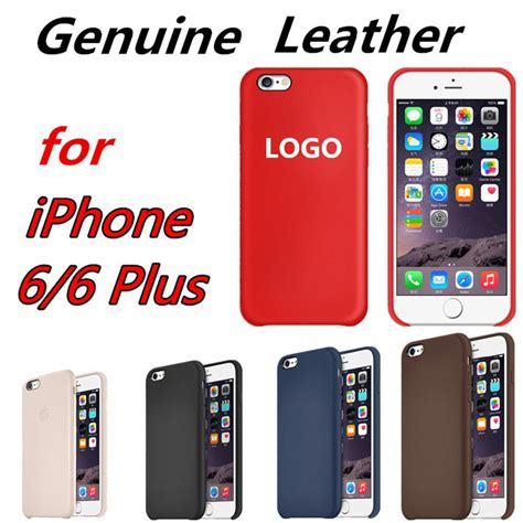 Termurah Pouch Leather Official Logo Iphone 7 6 6s for apple logo 1 1 genuine real leather for iphone 6 4 7 5 5 phone cases official style for