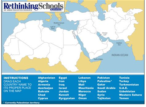 middle east map no names the map a learning tool