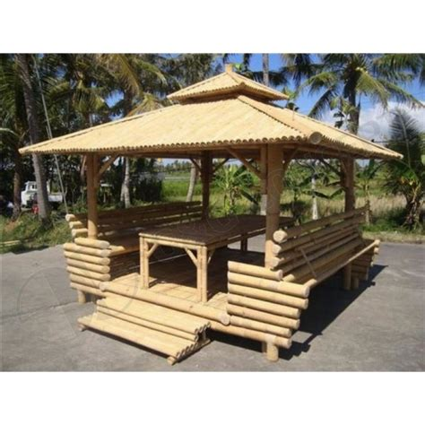 Gazebo With Bar Table Gb201 Bamboo Gazebo Garden Bamboo Gazebo With Bamboo Roof 1 Table Inside Bambu Diy