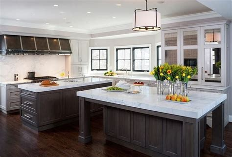 double kitchen islands kitchen pinterest double kitchen islands mirrored kitchen cabinets kitchen