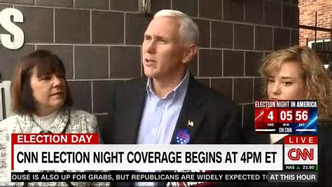 karen pence indiana gov mike pence s wife bio wiki donald trump and son eric peek at wives vote on election