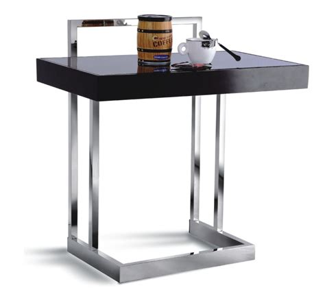 Laptop Side Table Modern Side Table Tables For Laptop Chrome Grey Glass Stainless Ebay