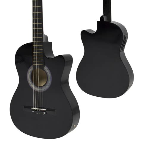 Gitar Akustik Elektrik 2 electric acoustic guitar cutaway design with guitar