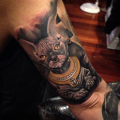 tattoo cat egyptian tattoo by benjamin laukis at the black mark tattoo studio