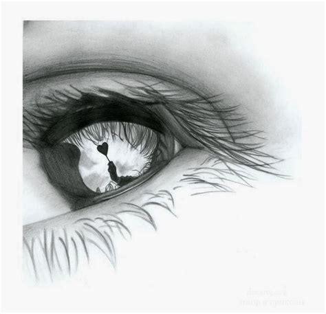 dibujo de ojo con lagrima realizado con lapices de grafito dibujos a lapiz