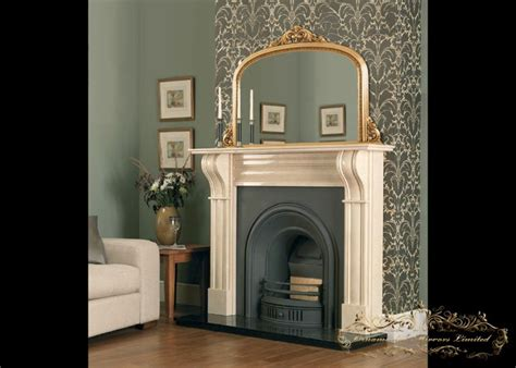 gold overmantel mirrors