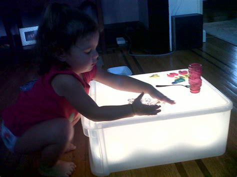 make your own light table and add some reggio emilia to