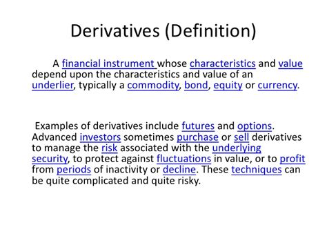 Financial Derivatives Notes For Mba Pdf by Financial Derivatives Ppt