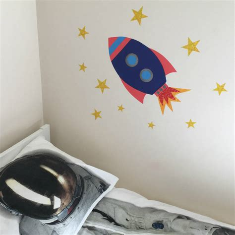rocket wall stickers rocket wall sticker by chameleon wall