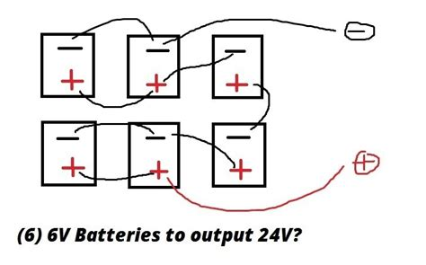 4 6 volt batteries to make 24 volts wiring diagrams