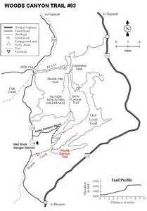 woods trail 93 sedona hiking arizona