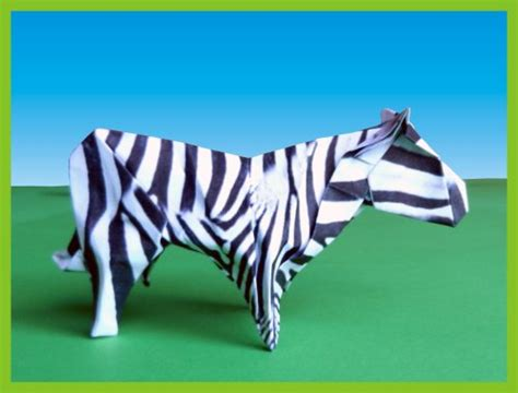 How To Make A Origami Zebra - origami zebra comot