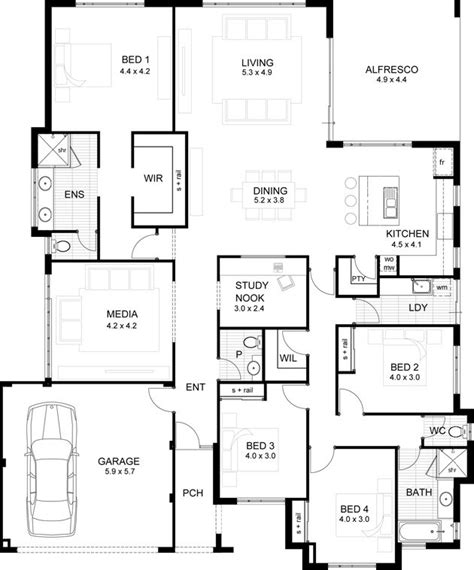 4 bedroom ensuite house plan 4 bedroom ensuite house plan 187 my ideal floor plan large master bedroom with ensuite and 602 best floor plans images on abacs us