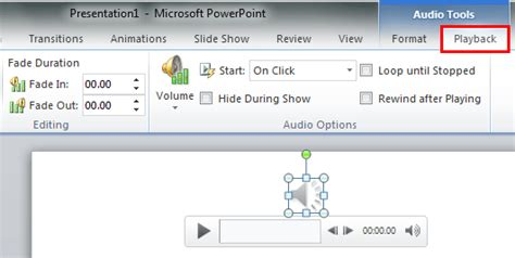format audio for powerpoint advanced audio options in powerpoint 2010 for windows