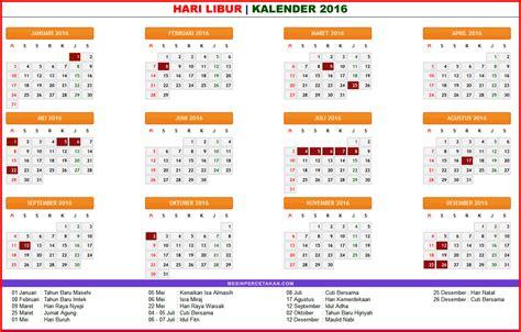 Kalender 2018 Beserta Cuti Kalender Masehi 2016 Beserta Hari Libur Hari Libur S