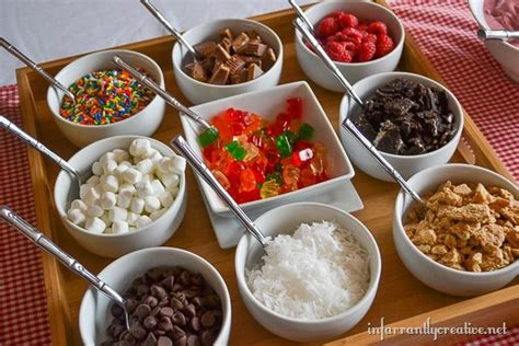 toppings for yogurt bar frozen yogurt bar at home infarrantly creative
