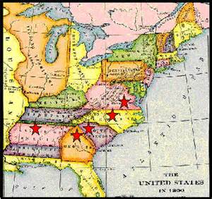 map of virginia carolina and south carolina the arnold family question
