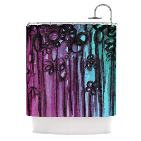 teal and purple shower curtain ebi emporium quot winter garden ombre quot from kess inhouse